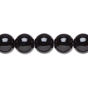 bead, black jade (coated), 10mm round, b grade, mohs hardness 2-1/2 to 6. sold per 16-inch strand.