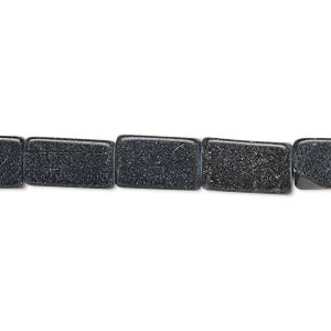 bead, blackstone (dyed), 11x7mm-13x9mm square tube, c- grade, mohs hardness 6-1/2 to 7. sold per 15-inch strand.