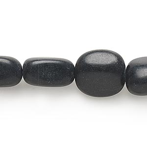 bead, blackstone (dyed), medium to large nugget, mohs hardness 6-1/2 to 7. sold per 16-inch strand.
