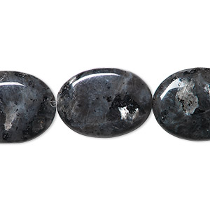 bead, blue labradorite (natural), 20x15mm flat oval, b- grade, mohs hardness 6 to 6-1/2. sold per 16-inch strand.