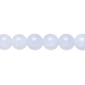 bead, blue lace agate (natural), 8mm round, b grade, mohs hardness 6-1/2 to 7. sold per 16-inch strand.