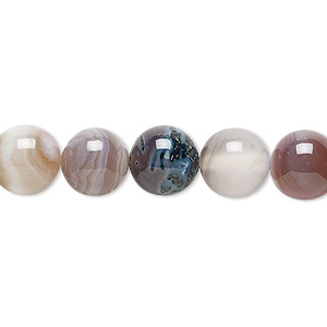 bead, botswana agate (natural), 10mm round, b grade, mohs hardness 6-1/2 to 7. sold per 16-inch strand.