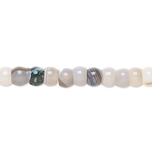bead, botswana agate (natural), 6x4mm rondelle, b grade, mohs hardness 6-1/2 to 7. sold per 16-inch strand.