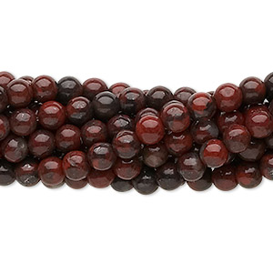 bead, brecciated jasper (natural), 4mm round, c grade, mohs hardness 6-1/2 to 7. sold per pkg of (10) 16-inch strands.