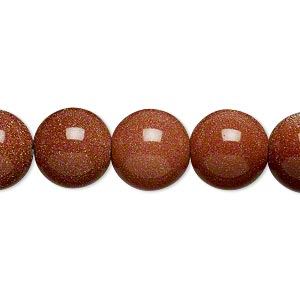bead, brown goldstone (man-made), 12mm round. sold per 16-inch strand.