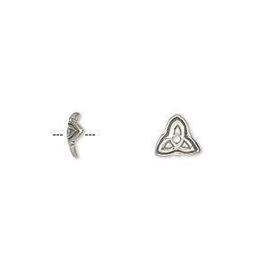 bead cap, antiqued sterling silver, 7.5x2mm curved triangle, fits 6-8mm bead. sold per pkg of 6.