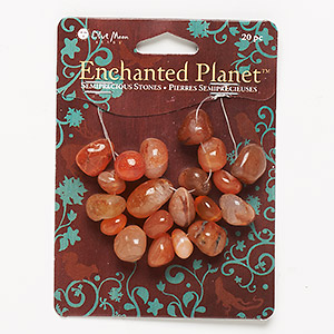 bead, carnelian (dyed / heated / coated), large to extra-large hand-cut top-drilled pebble, mohs hardness 6-1/2 to 7. sold per pkg of 20.