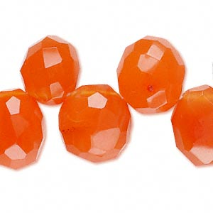 bead, carnelian (dyed / heated), large top-drilled faceted nugget, mohs hardness 6-1/2 to 7. sold per 8-inch strand.