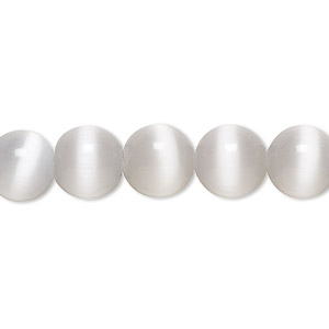 bead, cats eye glass, grey, 10mm round, quality grade. sold per 16-inch strand.