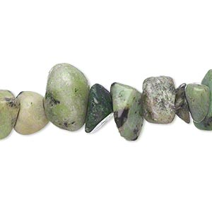 bead, chinese chrysoprase (natural), extra-large chip, mohs hardness 2-1/2 to 6. sold per 15-inch strand.