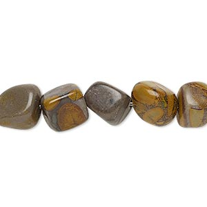 bead, chrysanthemum stone (natural), medium pebble, mohs hardness 3 to 4. sold per 16-inch strand.