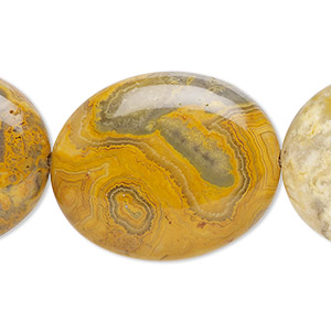 bead, crazy lace agate (natural), 30x25mm flat oval, b grade, mohs hardness 6-1/2 to 7. sold per 16-inch strand.