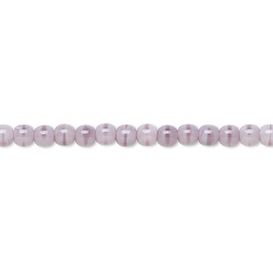 bead, czech glass druk, opaque purple, 4mm round. sold per 16-inch strand, approximately 100 beads.