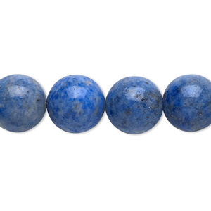 bead, denim lapis (natural), 12mm round, c grade, mohs hardness 5 to 6. sold per 16-inch strand.
