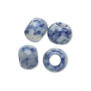 bead, dione, sodalite (natural), 12x9mm hand-cut rondelle, 5mm hole, b grade, mohs hardness 5 to 6. sold per pkg of 4.