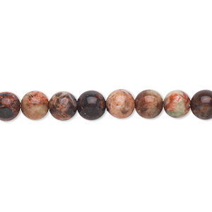 bead, dream jasper (natural), 6mm round, b grade, mohs hardness 7. sold per 16-inch strand.