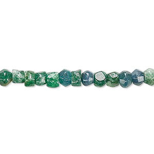 bead, emerald green aventurine (natural), 5x3mm-6x5mm hand-cut faceted rondelle, d grade, mohs hardness 7. sold per 9-inch strand.