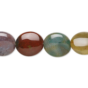 bead, fancy jasper (natural), 14x12mm flat oval, b grade, mohs hardness 6-1/2 to 7. sold per 16-inch strand.