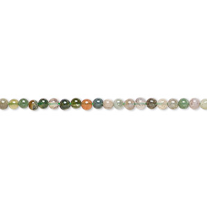 bead, fancy jasper (natural), 2mm round, b grade, mohs hardness 6-1/2 to 7. sold per 16-inch strand.