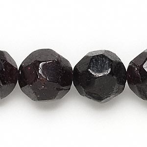 bead, garnet (dyed), 15-16mm faceted round, c- grade, mohs hardness 7 to 7-1/2. sold per 15-inch strand.