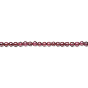 bead, garnet (dyed), 2-3mm round, c grade, mohs hardness 7 to 7-1/2. sold per 14-inch strand.