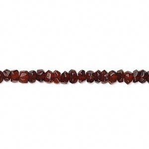 bead, garnet (dyed), 3x2mm-5x4mm hand-cut faceted rondelle, c grade, mohs hardness 7 to 7-1/2. sold per 13-inch strand.