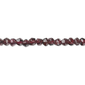 bead, garnet (dyed), 4mm tumbled faceted round, c grade, mohs hardness 7 to 7-1/2. sold per 16-inch strand.