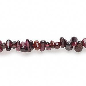 bead, garnet (dyed), 5x3mm-9x4mm teardrop, c- grade, mohs hardness 7 to 7-1/2. sold per 14-inch strand.