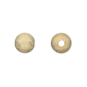 bead, gold-plated brass, 10mm stardust round with 2.9mm hole. sold per pkg of 24.