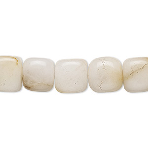 bead, golden cream quartz (natural), 10x9mm-11x11mm tumbled cube, c grade, mohs hardness 7. sold per 15-inch strand.
