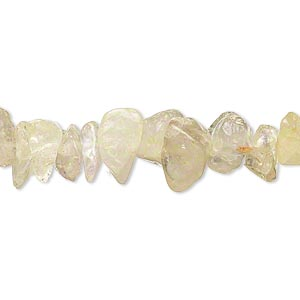 bead, golden rutilated quartz (natural), medium chip, mohs hardness 7. sold per 16-inch strand.