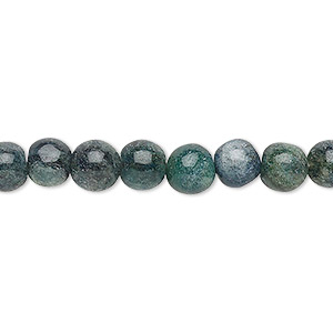 bead, green aventurine and blue-green aventurine (natural / dyed), 6-7mm hand-cut round, c grade, mohs hardness 7. sold per 12-inch strand.