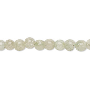 bead, green aventurine (natural), light to medium, 5-6mm hand-cut round, c grade, mohs hardness 7. sold per 12-inch strand.