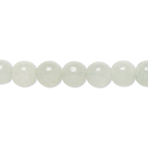 bead, green aventurine (natural), light to medium, 7-8mm hand-cut round, c+ grade, mohs hardness 7. sold per 13-inch strand.
