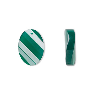 bead, green onyx (dyed), 16x12mm faceted twisted oval, b grade, mohs hardness 6-1/2 to 7. sold per pkg of 2.