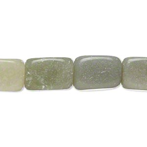 bead, grey and green serpentine (natural), small to medium tumbled nugget, mohs hardness 2-1/2 to 6. sold per 15-inch strand.