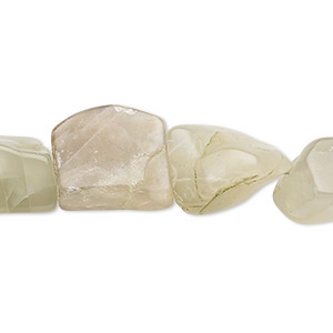 bead, grey moonstone (natural), small to large hand-cut tumbled nugget, mohs hardness 6 to 6-1/2. sold per 7-inch strand.
