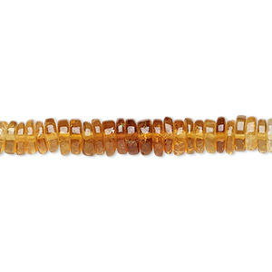 bead, hessonite garnet (natural), 4x1mm-6x2mm hand-cut rondelle, b grade, mohs hardness 7 to 7-1/2. sold per 8-inch strand, approximately 100-150 beads.