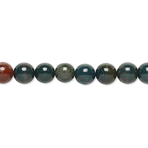 bead, indian bloodstone (natural), 6mm round, b grade, mohs hardness 6-1/2 to 7. sold per 16-inch strand.