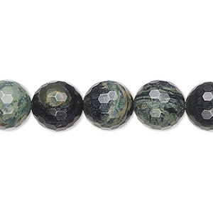 bead, kambaba jasper (natural), 10mm faceted round, b grade, mohs hardness 6-1/2 to 7. sold per 16-inch strand.