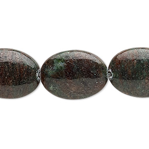 bead, kashgar garnet (natural), 20x15mm flat oval, b grade, mohs hardness 7 to 7-1/2. sold per 16-inch strand.