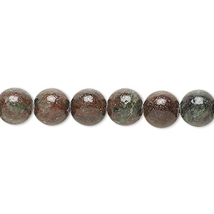 bead, kashgar garnet (natural), 8mm round, b grade, mohs hardness 7 to 7-1/2. sold per 16-inch strand.