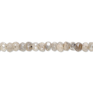 bead, labradorite (coated), luster, 4x2mm-5x4mm hand-cut faceted rondelle, c grade, mohs hardness 6 to 6-1/2. sold per 13-inch strand.