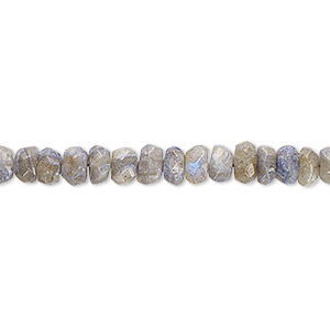 bead, labradorite (dyed), 5x2mm-6x5mm hand-cut faceted rondelle, d grade, mohs hardness 6 to 6-1/2. sold per 13-inch strand.