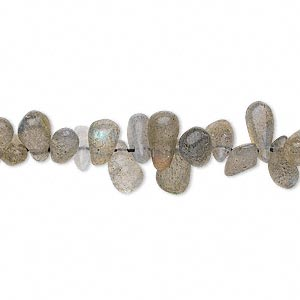 bead, labradorite (natural), 6x3mm-11x5mm hand-cut top-drilled teardrop, d grade, mohs hardness 6 to 6-1/2. sold per 13-inch strand.
