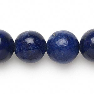 bead, lapis lazuli (dyed), 15-16mm round, c grade, mohs hardness 5 to 6. sold per 15-inch strand.
