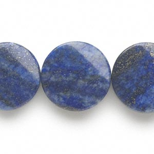 bead, lapis lazuli (dyed), 20-21mm flat twisted round, c grade, mohs hardness 5 to 6. sold per 15-inch strand.