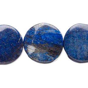 bead, lapis lazuli (dyed), 20mm twisted flat round, d grade, mohs hardness 5 to 6. sold per 15-inch strand.