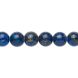 bead, lapis lazuli (dyed), 7-8mm round, c grade, mohs hardness 5 to 6. sold per 15-inch strand.