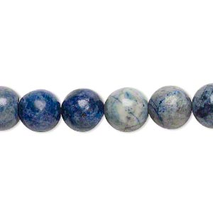 bead, lapis lazuli (dyed), 9-10mm round, d- grade, mohs hardness 5 to 6. sold per 15-inch strand.